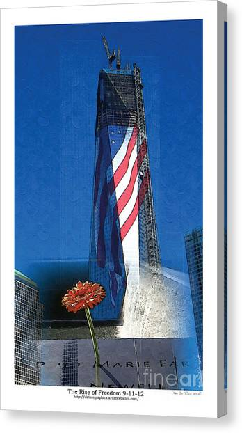 George Bush Canvas Print - Rise Of Freedom 2012 by Kenneth De Tore