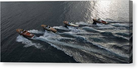 Riva Runabouts Aerial Canvas Print