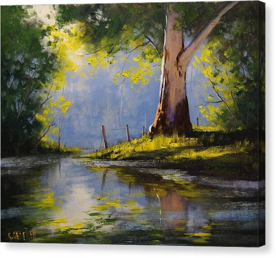 Gum Trees Canvas Print - River Gum by Graham Gercken