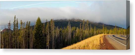 Bachelor Canvas Print - Road Near Mount Bachelor by Twenty Two North Photography