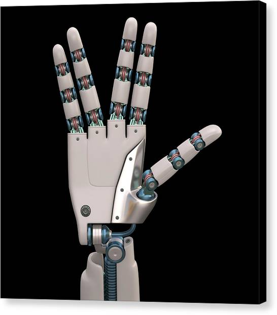Vulcans Canvas Print - Robotic Hand by Ktsdesign