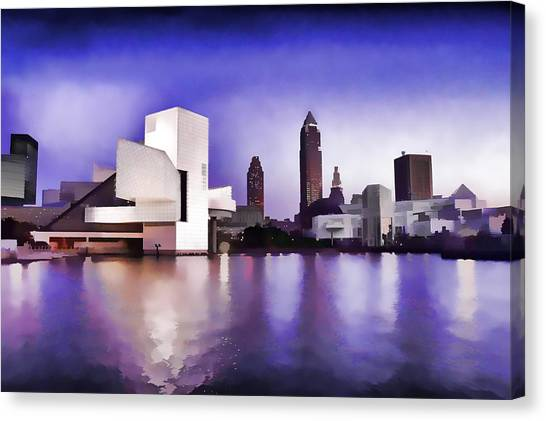 Rock And Roll Hall Of Fame - Cleveland Ohio - 3 Canvas Print