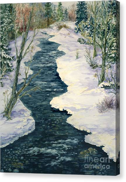 Rock Creek Winter Canvas Print