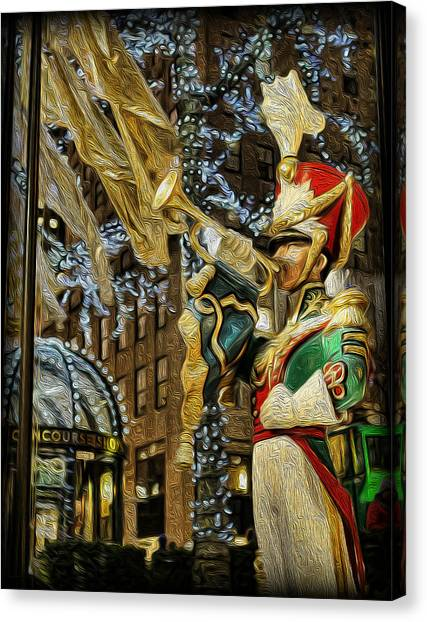 Rockefeller Center Bugle Boy Canvas Print by Lee Dos Santos