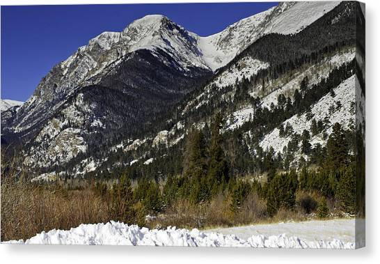 Rockies Canvas Print by Tom Wilbert
