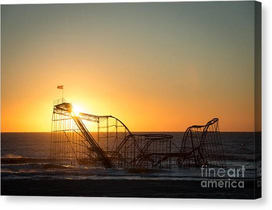 Roller Coaster Sunrise Canvas Print