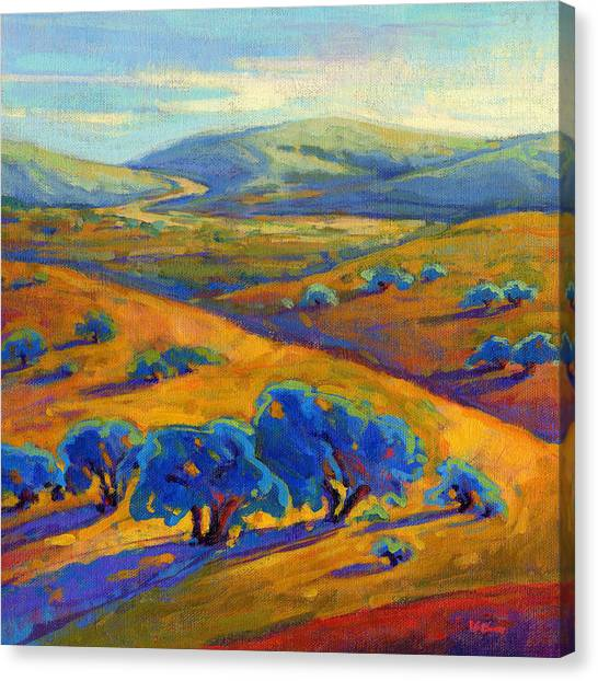 Canvas Print featuring the painting Rolling Hills 1 by Konnie Kim