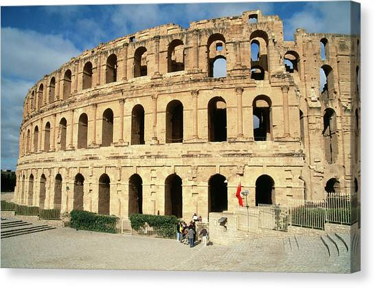 The Amphitheatre Canvas Print - Roman Amphitheatre by Sheila Terry/science Photo Library