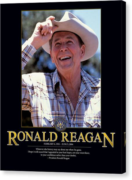 Ronald Reagan Canvas Print - Ronald Reagan by Retro Images Archive