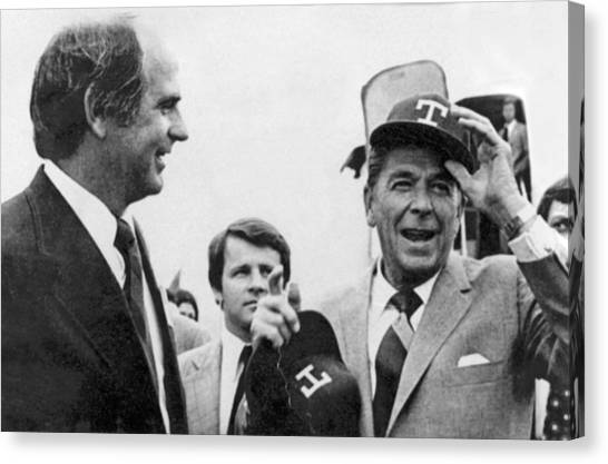 Texas Rangers Canvas Print - Ronald Reagan Texas Primary by Underwood Archives