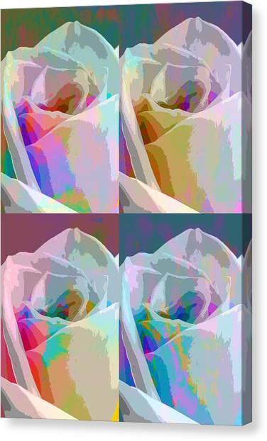 Frank Stella Canvas Print - Rose Four by Linda Dunn
