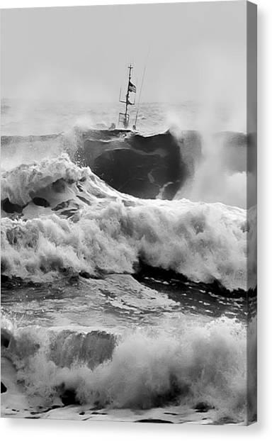 Rough Sea Training Canvas Print