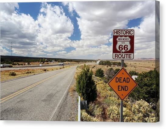 Route 66 Sign Canvas Print by Michael Szoenyi