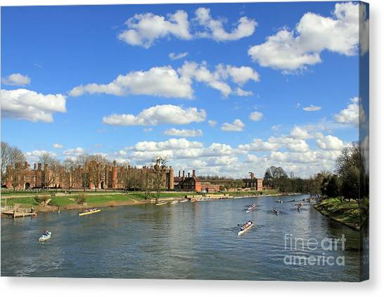 Rowing On The Thames At Hampton Court Canvas Print