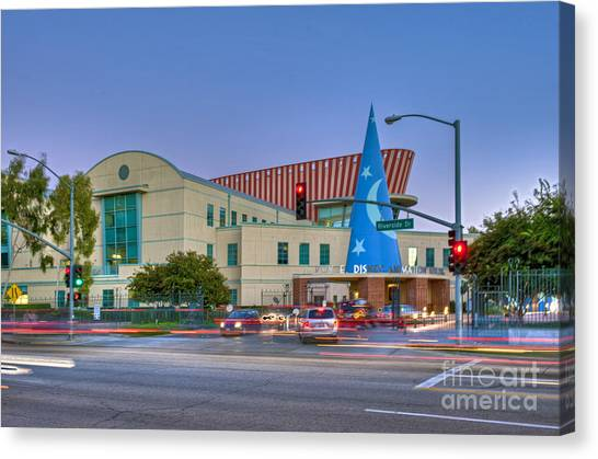 Roy E. Disney Animation Building In Burbank Ca. Canvas Print