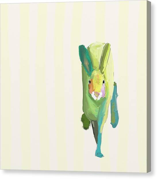 Easter Bunny Canvas Print - Running Bunny by Cathy Walters