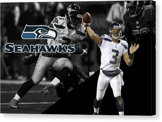 Seahawks Canvas Print - Russell Wilson Seahawks by Joe Hamilton
