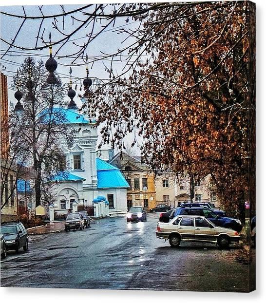 Orthodox Art Canvas Print - #russia #kalugacity#beststreetview by Helen Vitkalova