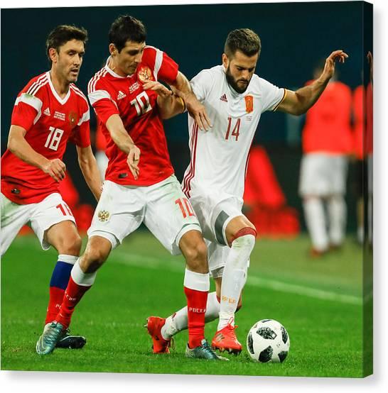 Russia Vs Spain - International Friendly Canvas Print by Epsilon