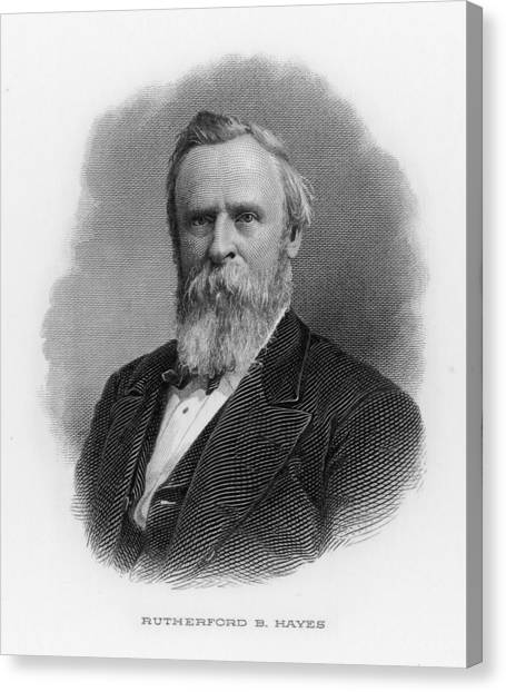 Rutherford Birchard Hayes  19th Canvas Print by Mary Evans Picture Library