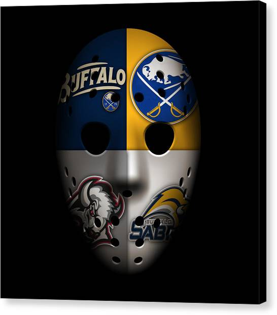 Buffalo Sabres Canvas Print - Sabres Goalie Mask by Joe Hamilton