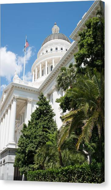 Sacramento Capitol Building Of California Canvas Print