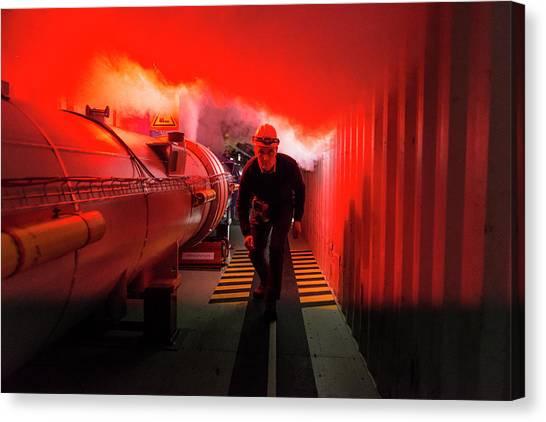 Safety Training At Cern Canvas Print by Cern