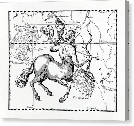 Centaurs Canvas Print - Sagittarius by Detlev Van Ravenswaay