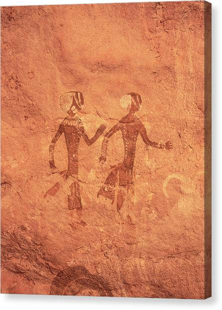 Sahara Desert Canvas Print - Saharan Rock Art by David Parker/science Photo Library