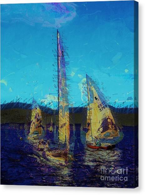 Jibbing Canvas Print - Sailing Day by Julie Lueders