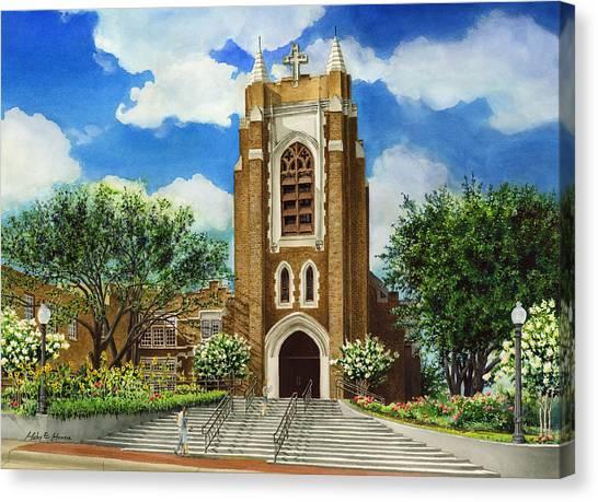 Style Canvas Print - Saint Andrews Episcopal Church Bryan Texas by Hailey E Herrera