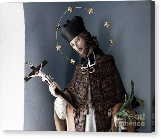 Saint John Of Nepomuk Canvas Print by Agnieszka Kubica