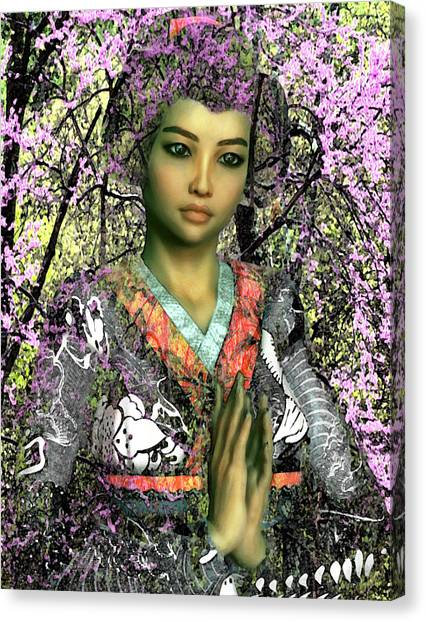 Saint Lucy Yi Zhenmei Of China Canvas Print