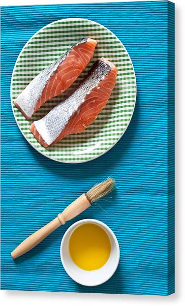 Fillet Canvas Print - Salmon Fillets by Tom Gowanlock