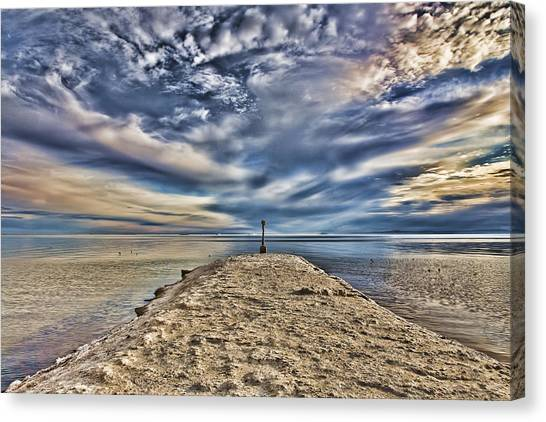 Salt Pier Salton Sea Canvas Print