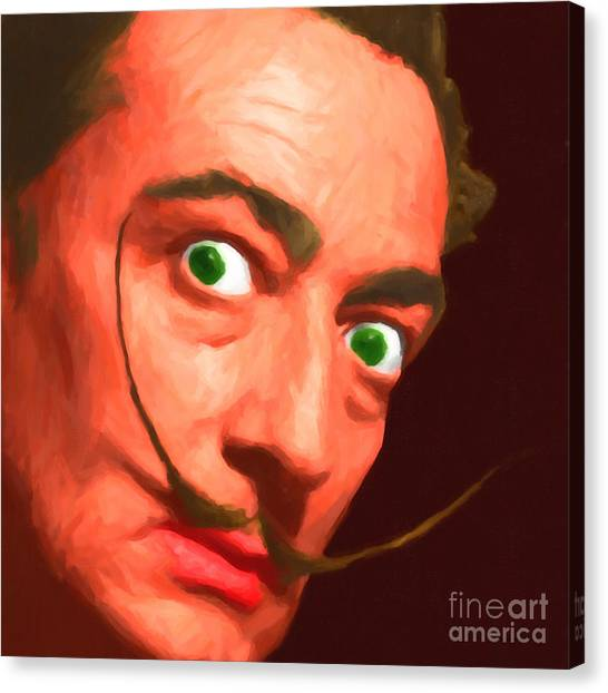 Dada Art Canvas Print - Salvador Dali 20141213 V1 by Wingsdomain Art and Photography