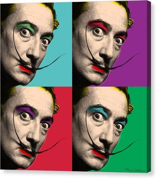 Salvador Dali Canvas Print - Salvador Dali  by Mark Ashkenazi