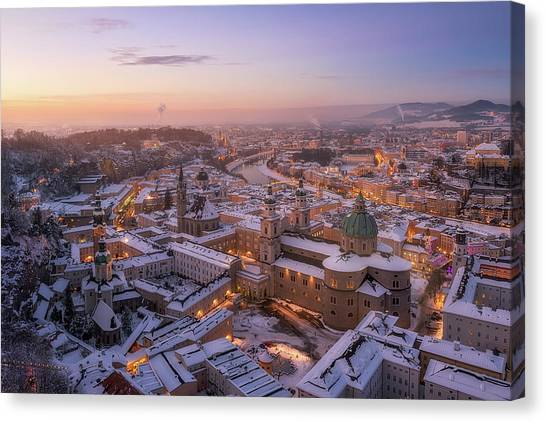 Cathedrals Canvas Print - Salzburg by Richard Vandewalle