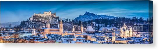 Salzburg Winter Romance Canvas Print