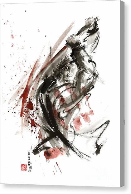 Samurai Canvas Print - Samurai Bushido Code by Mariusz Szmerdt
