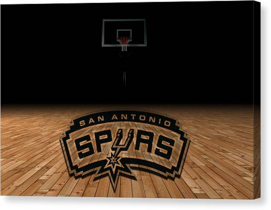 Spurs Canvas Print - San Antonio Spurs by Joe Hamilton