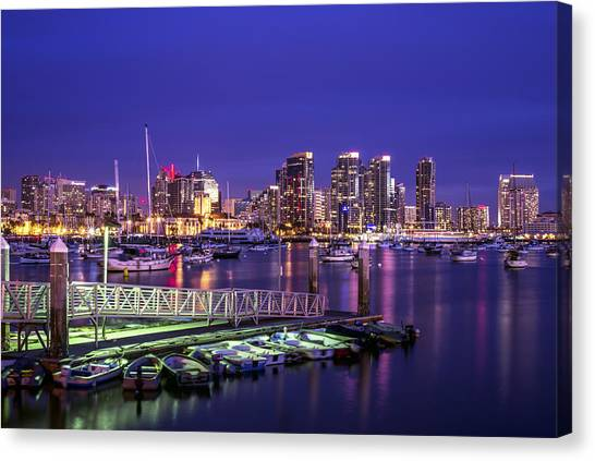 San Canvas Print - This Is San Diego Harbor by Joseph S Giacalone