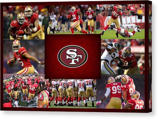 Touchdown Canvas Print - San Francisco 49ers by Joe Hamilton