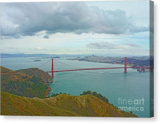 San Francisco Canvas Print by Nur Roy