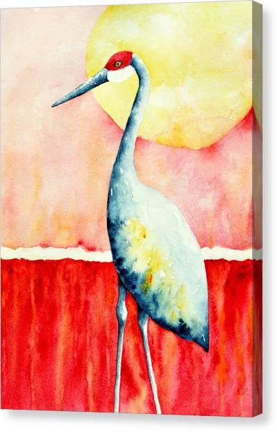 Sandhill Crane II Canvas Print by Sarah Rosedahl