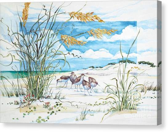 Sandpipers Canvas Print - Sandpiper Dunes by Paul Brent
