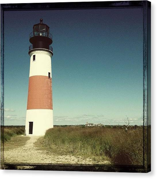Lighthouses Canvas Print - Sankaty Head Lighthouse by Natasha Marco