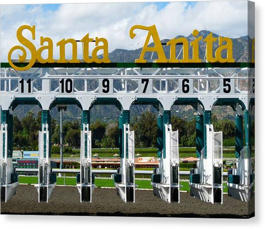 Santa Anita Starting Gate Canvas Print