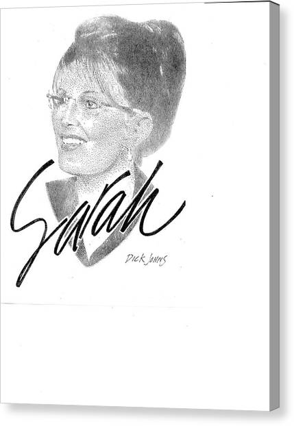 Sarah Palin Canvas Print - Sarah Palin by Richard Johns