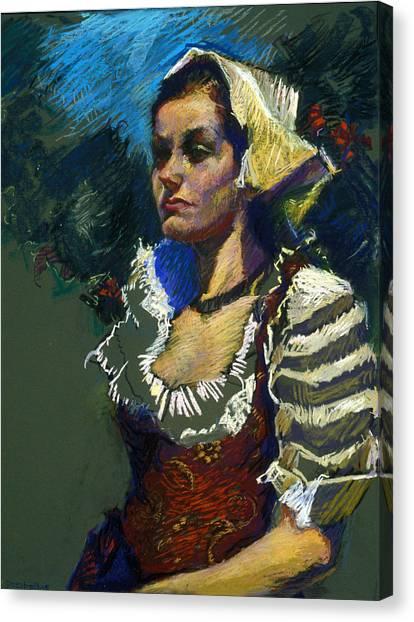 Sardinian Woman Canvas Print